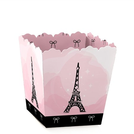 Paris, Ooh La La - Paris Themed - Party Mini Favor Boxes - Baby Shower or Birthday Party Treat Candy Boxes - Set of 12 - Summer Baby Shower Themes