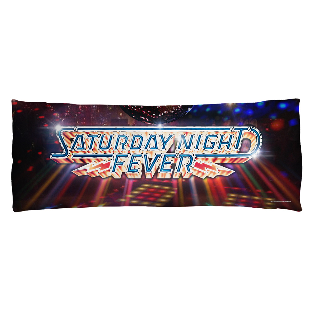 Saturday Night Fever Dance Floor Microfiber Body Pillow White 18X54