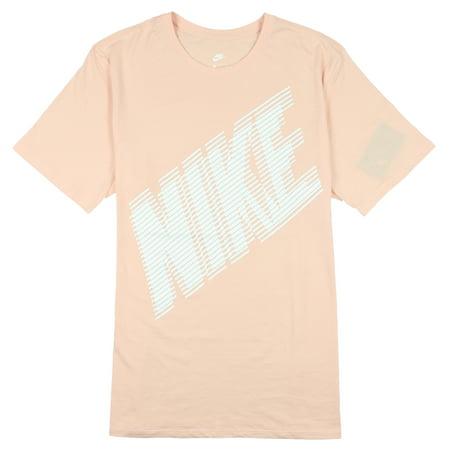 Nike Men's Block Logo T-Shirt Light Pink White