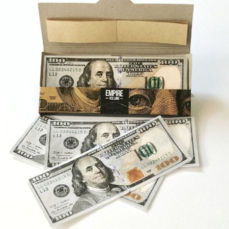 10 Pcs Funny Innovative Empire $100 Dollar Cigarette Papers Bill Premium Rolling Paper Smoking