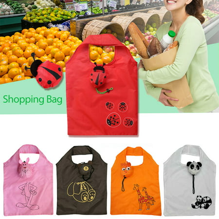 Cute Reusable Grocery Bags (Innovative Cute Animal Green Bag Supermarket Shopping Bag Portable Folding Shopping Bag Cute Storage Reusable Grocery Totes Eco-friendly)