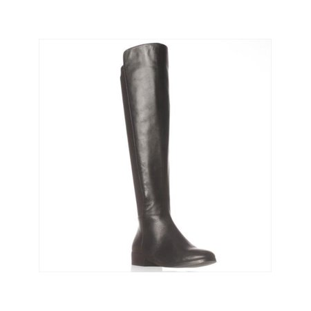 Womens MICHAEL Michael Kors Bromley Knee-High Boots, Black Smooth, 6 US / 36 EU Smooth Womens Boots