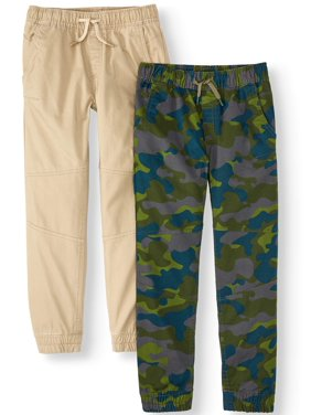7fb05adb90703e Product Image Wonder Nation Woven Jogger Pant 2-pack (Little Boys, Big  Boys, &