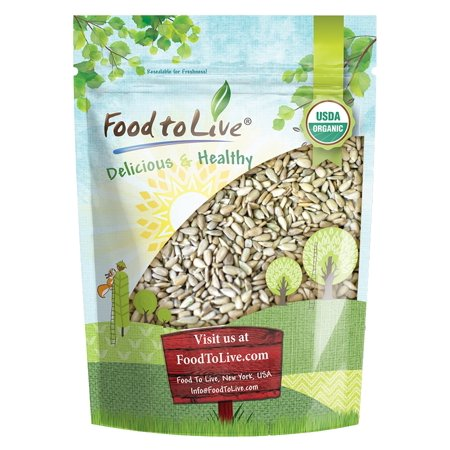 Organic Sprouted Sunflower Seeds, 1 Pound - Non-GMO, Kosher, No Shell, Unsalted, Raw Kernels, Vegan Superfood, Bulk - by Food to Live (Sprouted Sunflower Seeds Organic)