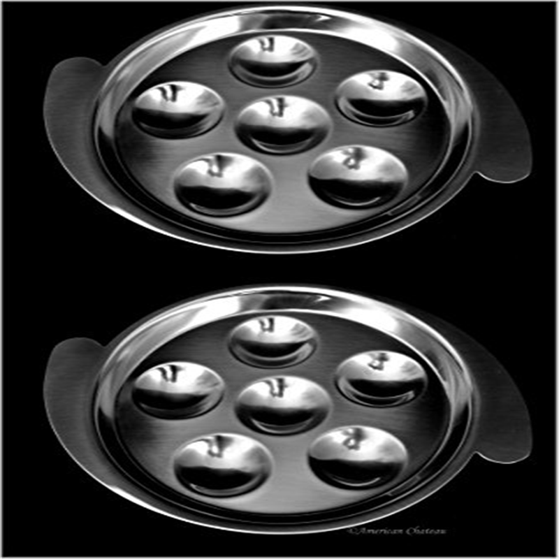 Set of 4 Stainless Steel Snail Escargot Plates Dishes  sc 1 st  Walmart & Set of 4 Stainless Steel Snail Escargot Plates Dishes - Walmart.com