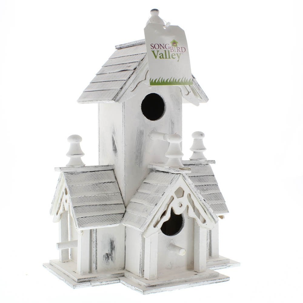 Modern Birdhouse, Cute Wooden Outdoor Bird House