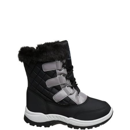 Rugged Bear Boys' Elastic Braids Snow Boots