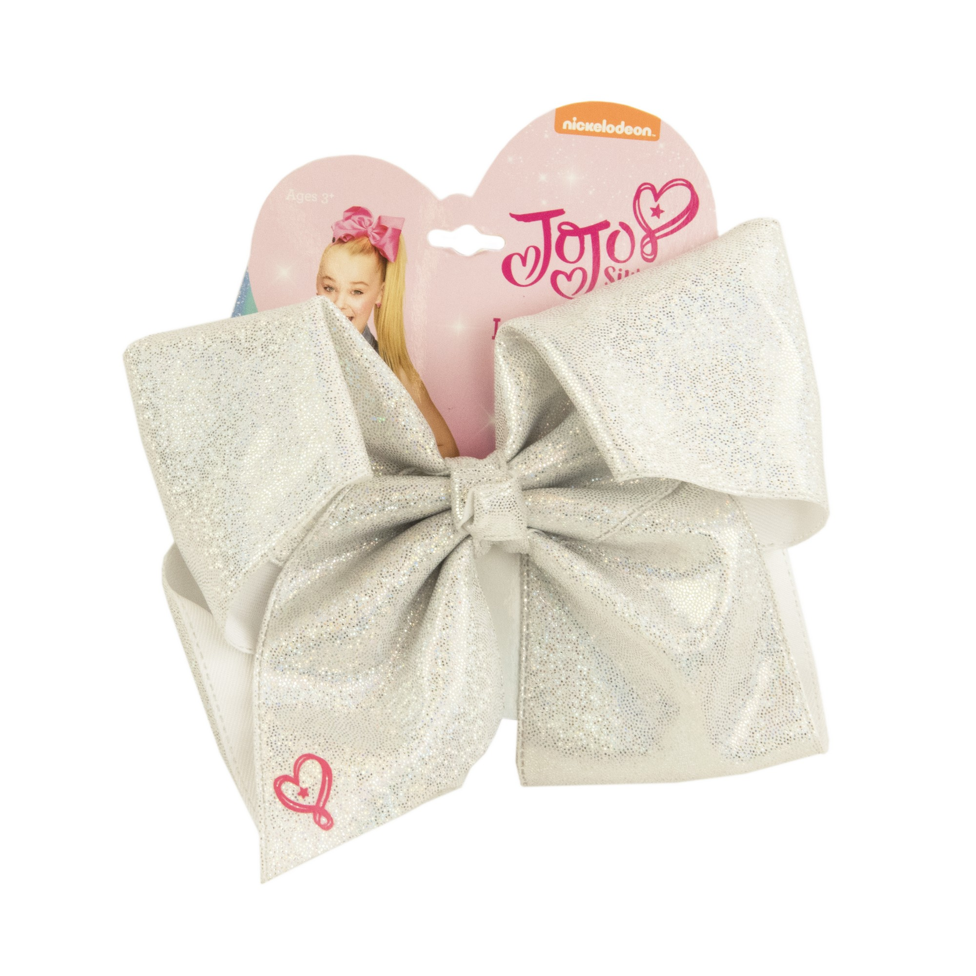JoJo Siwa Bow on Elastic, Silver