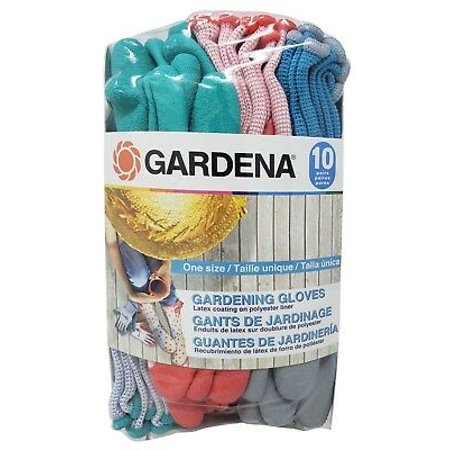 Gardena Gardening Gloves Latex Coating Anti-Slip Knit - Latex Palm Coated Knit Gloves
