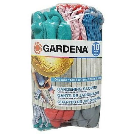 Cotton Slip Gloves (Gardena Gardening Gloves Latex Coating Anti-Slip Knit Liner )