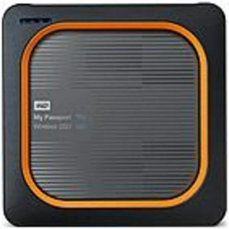 Refurbished WD My Passport Wireless WDBAMJ5000AGY-NESN 500 GB Network Solid State Drive - External - Portable - Wireless LAN - USB