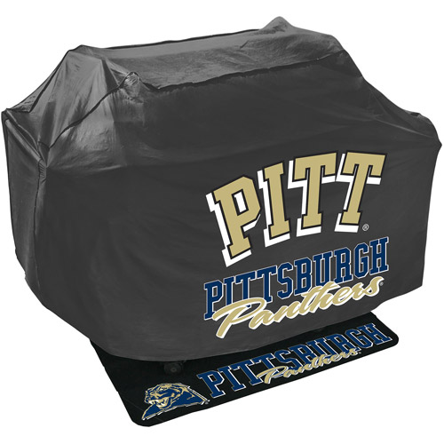 Mr. Bar-B-Q NCAA Grill Cover and Grill Mat Set, Pittsburgh University Panthers
