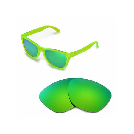 Walleva Emerald Polarized Replacement Lenses for Oakley Frogskins (Oakley Frogskins Iridium Lens)
