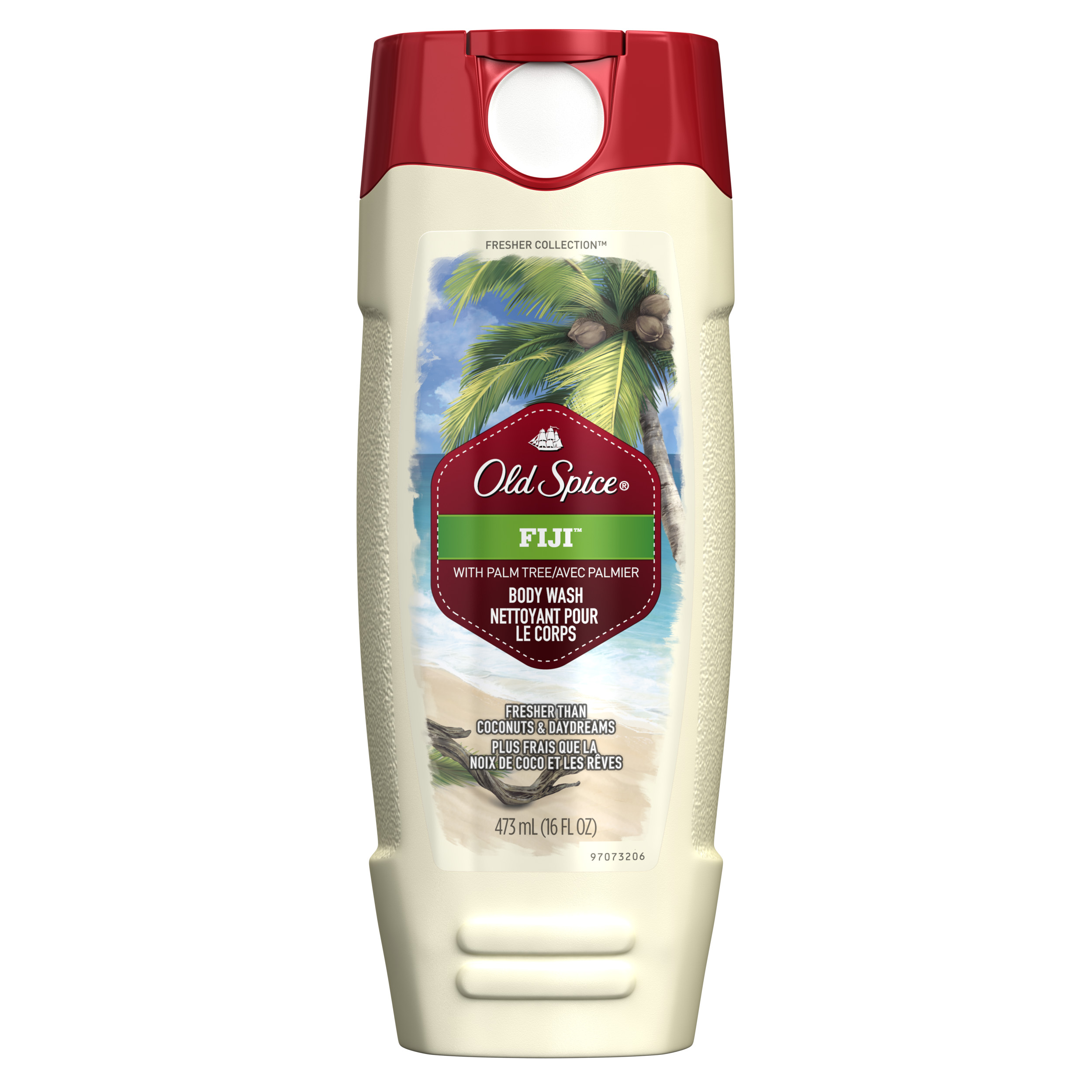 Old Spice Fresher Fiji Scent Body Wash for Men, 16 oz