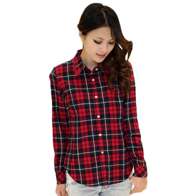 collection of red tartan womens shirt