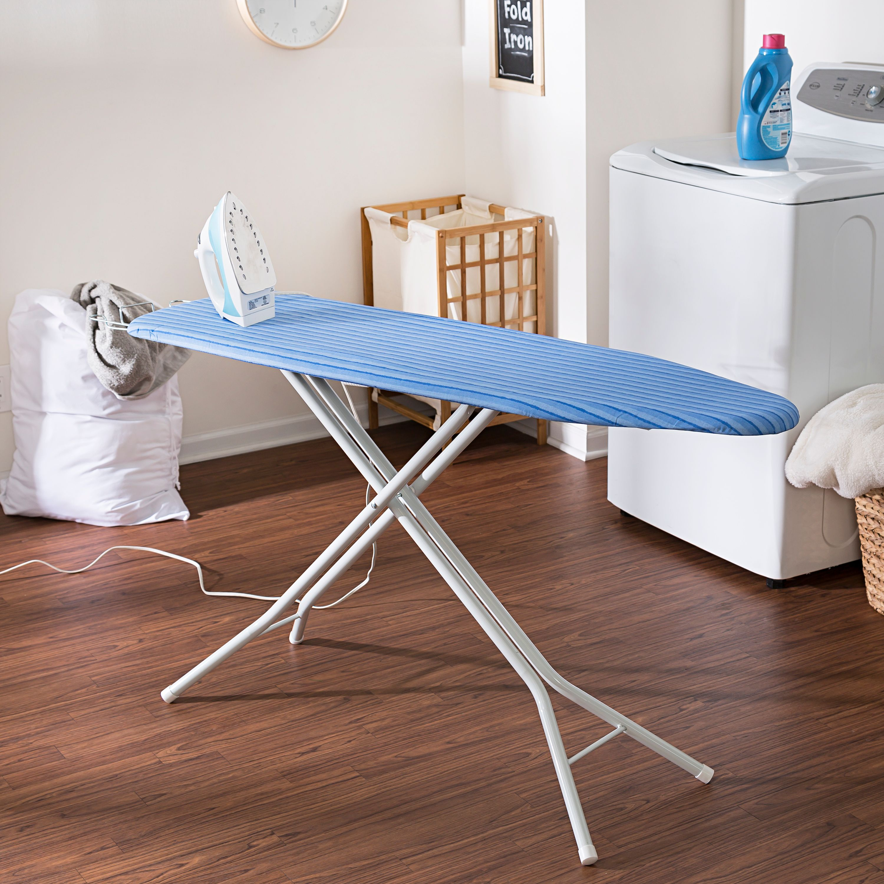 Captivating Honey Can Do Ironing Board With 4 Leg Stand And Retractable Iron Rest, Blue    Walmart.com