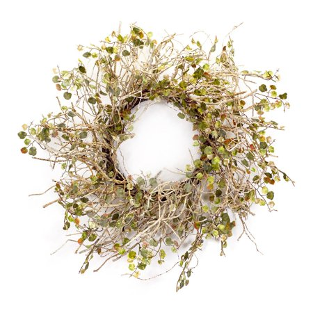 Melrose International Birch Branch Wreath with Mini Leaves - Mini Wreaths