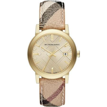 Burberry Unisex Classic Checked Analog Quartz 38mm Watch BU9026 Casual Classic Womens Watch
