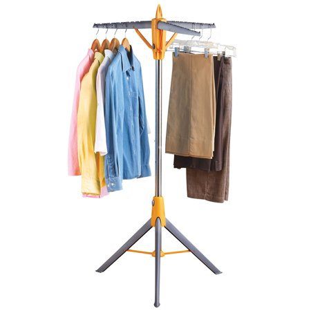 Hang-N-Store Foldable Clothes Rack for Drying or Storage, 30 Hanger Capacity, Self Standing