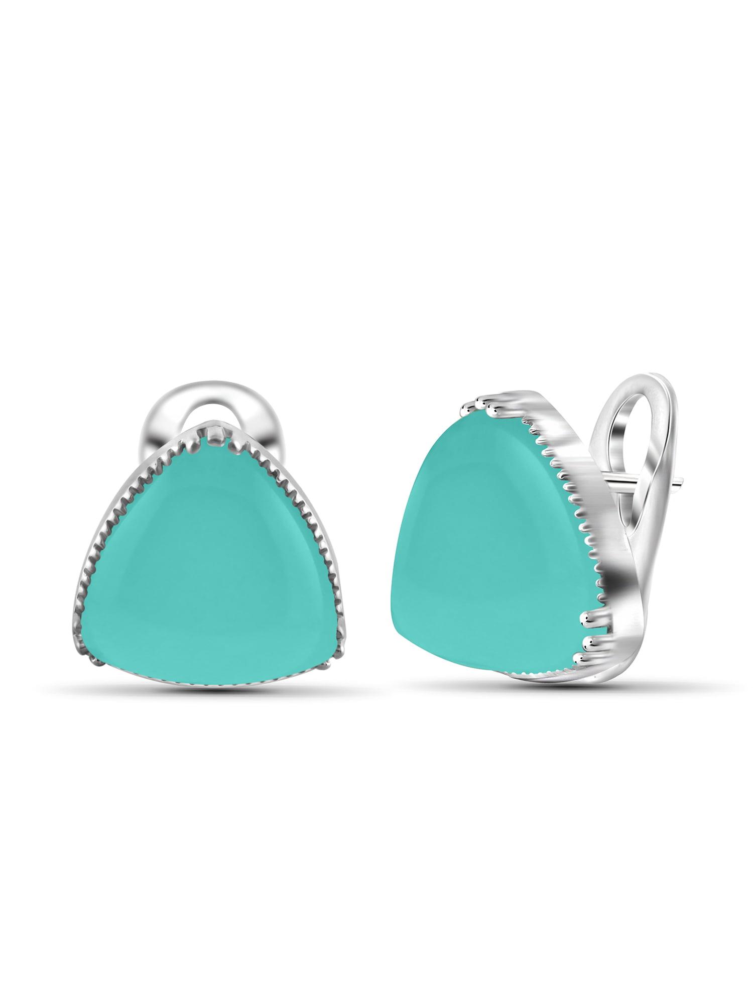 JewelersClub 17-1 2 Carat T.G.W. Chalcedony Sterling Silver Stud Earrings by JewelersClub