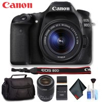 Canon EOS 80D DSLR Camera with 18-55mm Lens (Intl Model) Deluxe Bundle