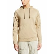 Khaki 100% Polyester Smooth-Faced Midweight Fleece Cover Hoodie (S) NEW