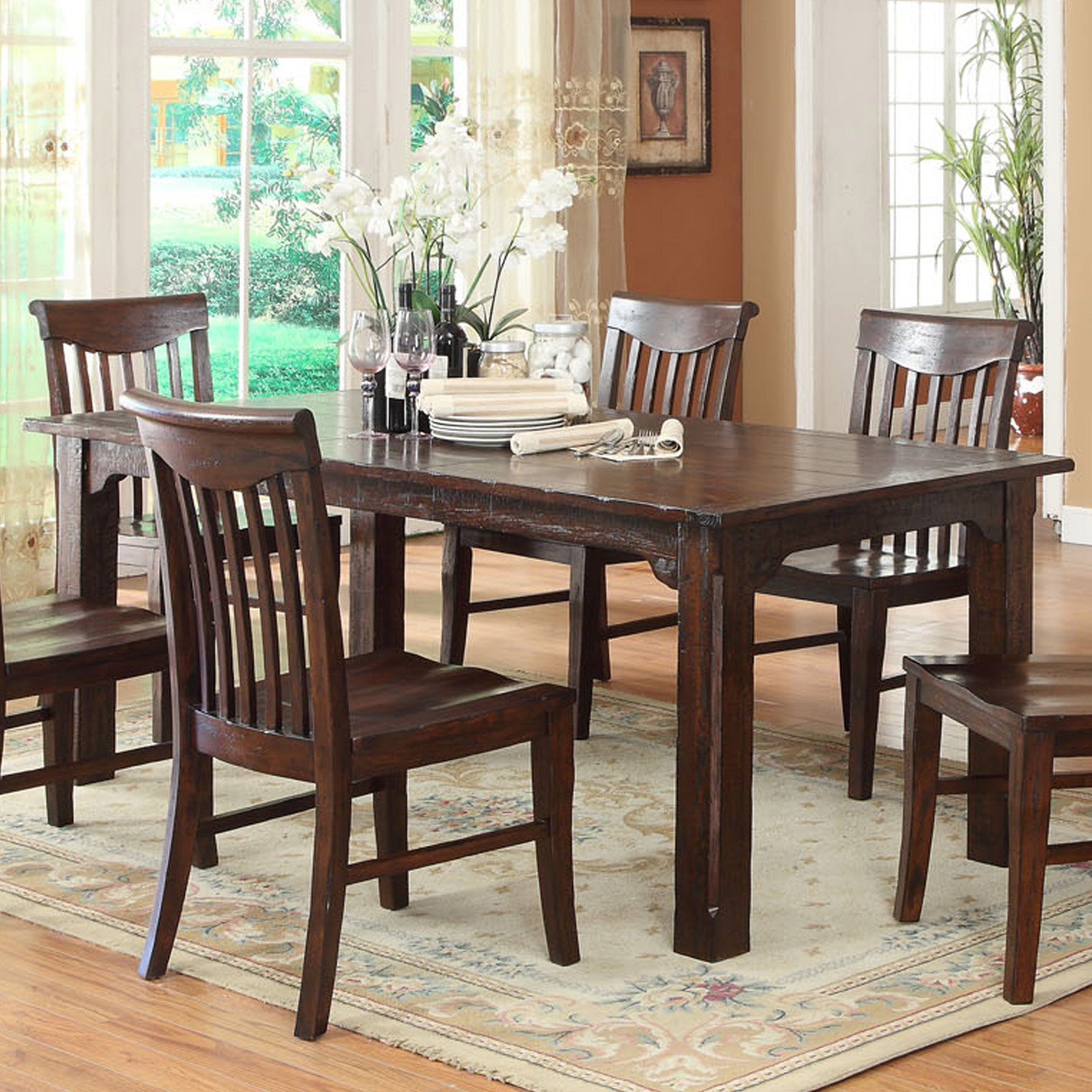 ECI Gettysburg Distressed Dark Dining Table