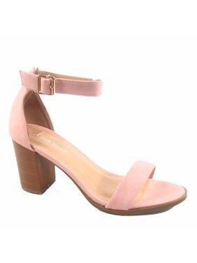 86aaa89690e86b Product Image Myth-01 Women s Single Band Ankle Buckle Chunky Heel Sandals