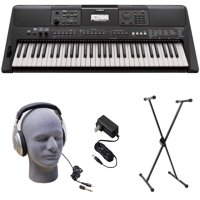 Yamaha PSR-E463 PKS Premium Keyboard Pack with Power Supply, X-Style Stand, and Headphones