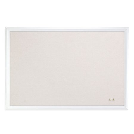 U Brands Linen Bulletin Board, 30 x 20 Inches, White Décor