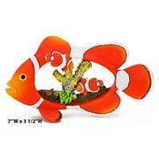 Penn Plax RR1100 7 x 3. 5 inch Clown Fish With Coral Diorama Aquarium Decoration Ornament
