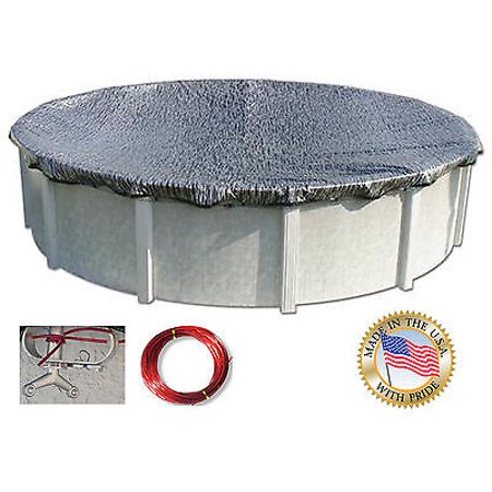 Oval Enviro Mesh (HPI 18-Foot-by-33-Foot Oval Enviro Mesh Above Ground Swimming Pool Winter Cover - 8-YR Warranty)