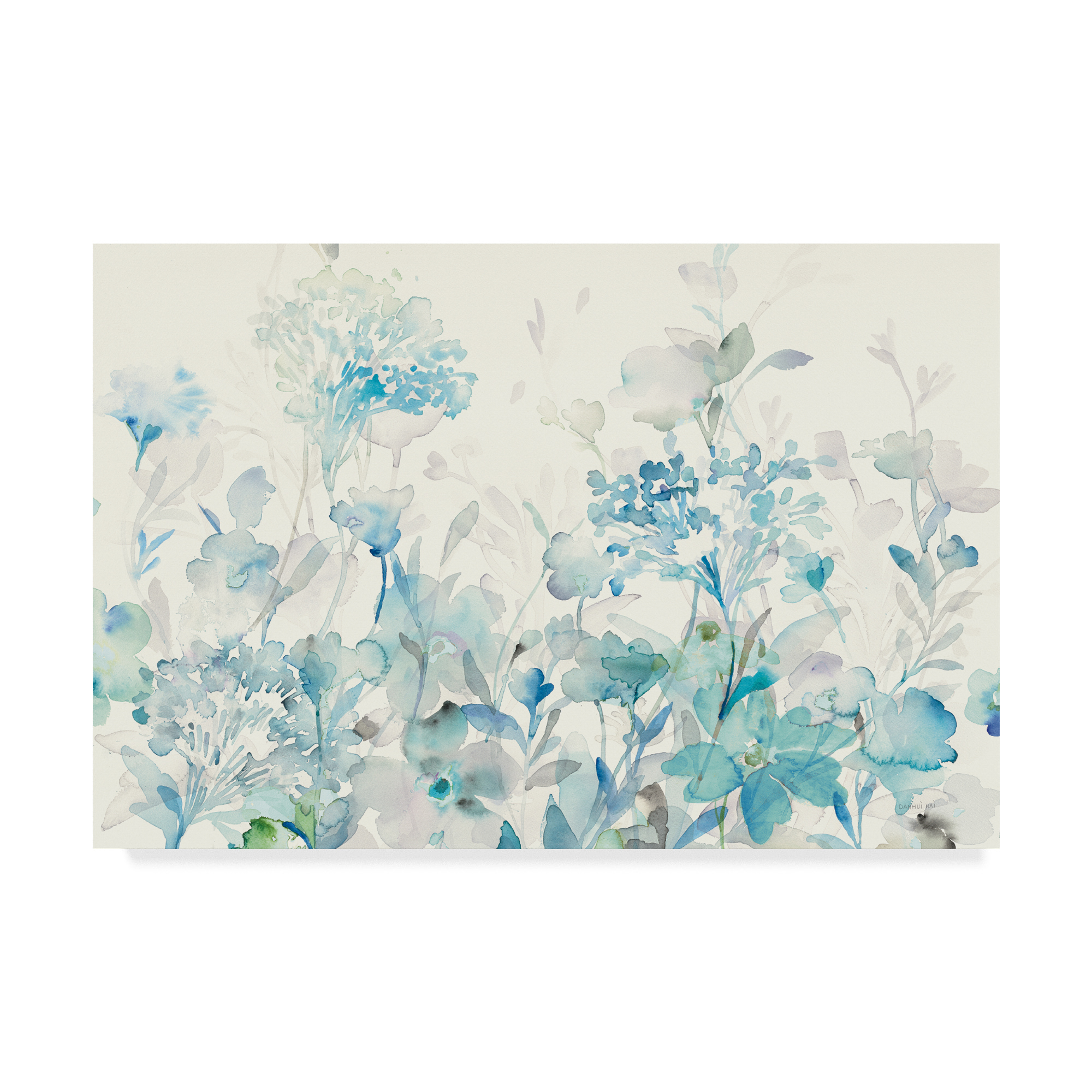 Treasures from The Sea III Aqua Giclee Stretched Canvas Artwork 18 x 18 Global Gallery Danhui NAI