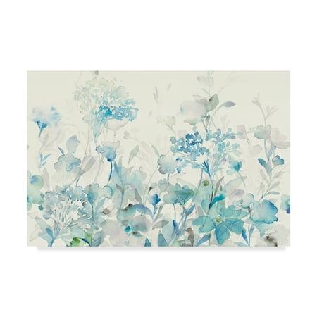 Trademark Fine Art 'Translucent Garden Blue Crop' Canvas Art by Danhui Nai