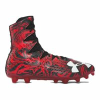 New Mens Under Armour Highlight LUX MC Lacrosse Cleats Black/Red Size 10 Medium