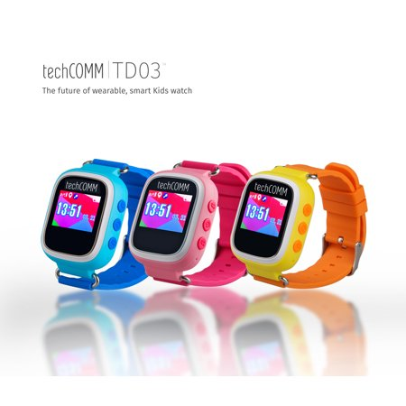 TechComm TD-03 Kids Smart Watch with GPS and Sleep Monitor for Speed Talk