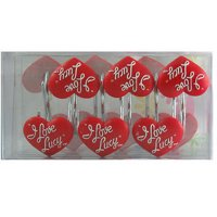 Product Image I Love Lucy Bathroom Shower Curtain Hooks Polyresin New Gift