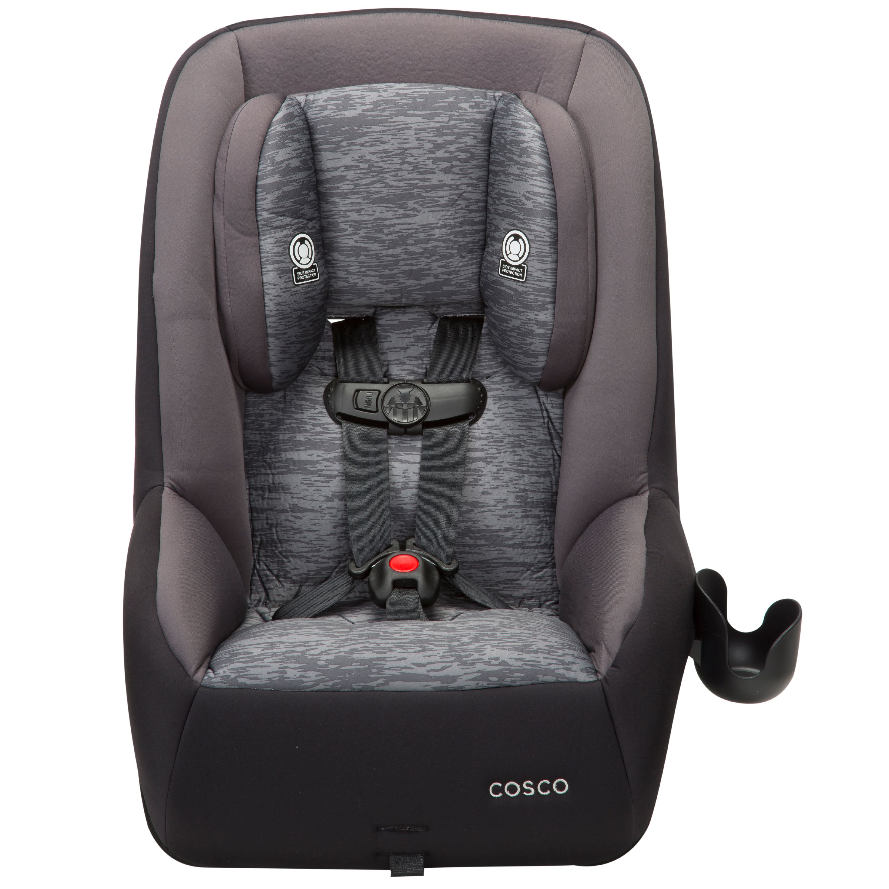 Cosco MightyFit 65 DX Convertible Car Seat, Heather Onyx