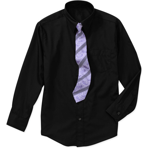 George Boys Packaged Dress Shirt and Tie Set