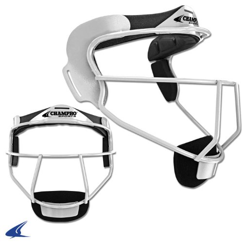 """Champro Softball Defensive Facemask """"The Grill"""" - Youth (White)"""