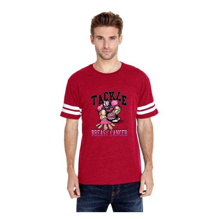 Cancer Awareness T-Shirt Tackle Breast Cancer Football Cancer Awareness Football Fans Unisex Shirts Jersey