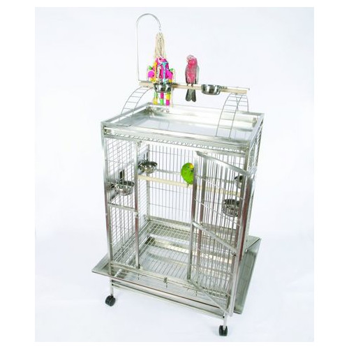 A&E Cage Co. Medium Play Top Bird Cage with Bird Toy Hook