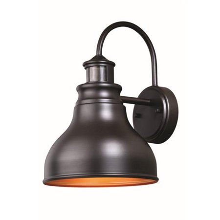 Vaxcel International T0259 9 in. Delano Dualux Outdoor Wall Light, Oil Burnished Bronze