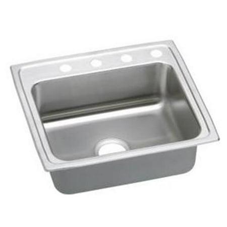 18 Gauge Stainless Steel 22 x 19.5 x 6 in. Single Bowl Top Mount Sink