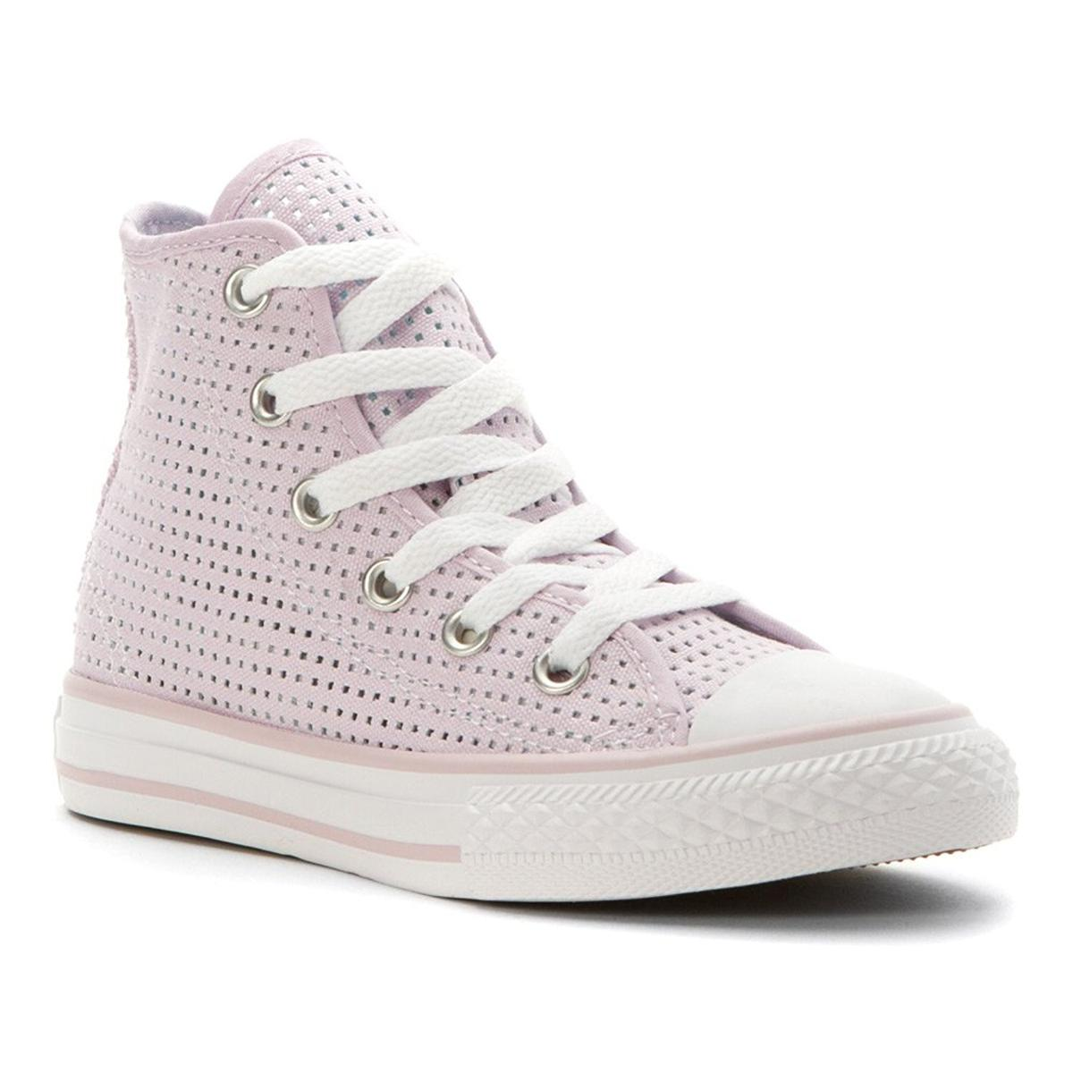 Converse Chuck Taylor High Top Girls Purple Dusk Mot Sneakers by Converse