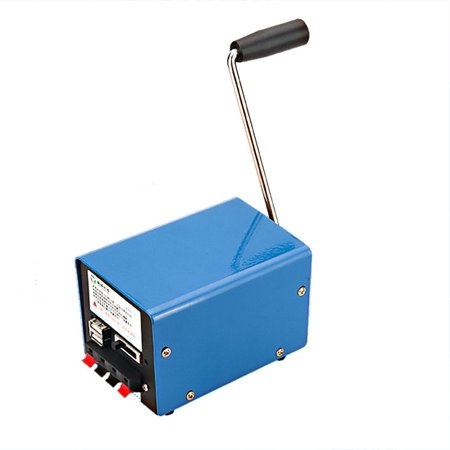 Multi-function Portable Hand Crank Emergency USB Charger Generator SOS Travel - image 1 de 10