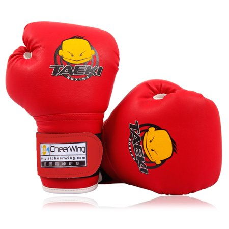 Cheerwing PU Kids Children Cartoon Sparring Dajn Boxing Gloves Training Age 5-10 Years