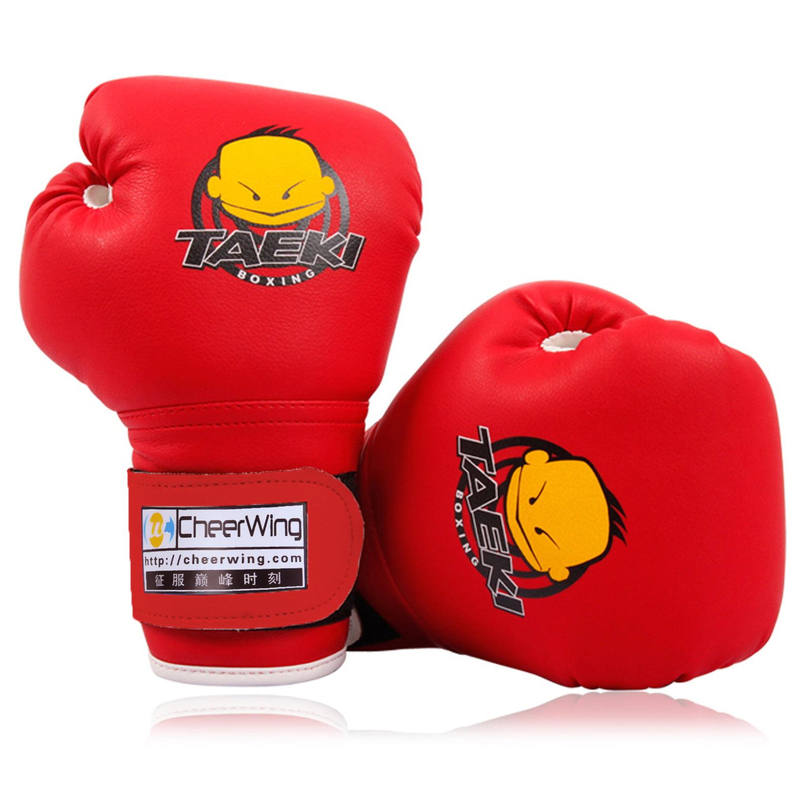 Cheerwing PU Kids Children Cartoon Sparring Dajn Boxing Gloves Training Age 5-10 Years