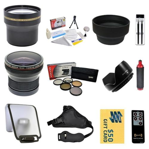 Enthusiast Lens Kits for SONY Alpha A33 A35 A55 A65 A580 A99 A37 A77 A37 A5000 NEX-7 NEX-3N with 0.20X + 3.7x Lens + Pro 5 Piece Filter + Grip Strap + Wireless Remote + Sensor Cleaning Kit + More