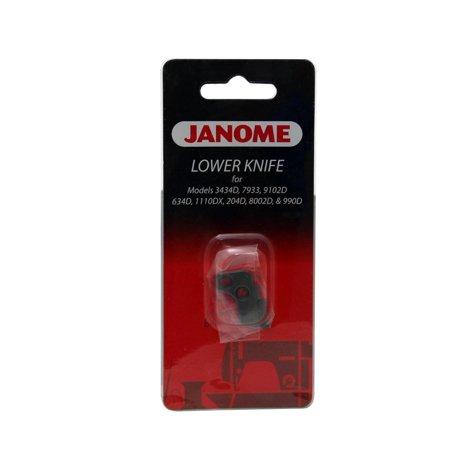 - Janome Serger Lower Knife for Models 1110DX, 634D, 3434D and More